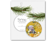 Light Photo Ornament Christmas Cards