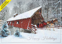 Winter Sleigh Ride Holiday Cards